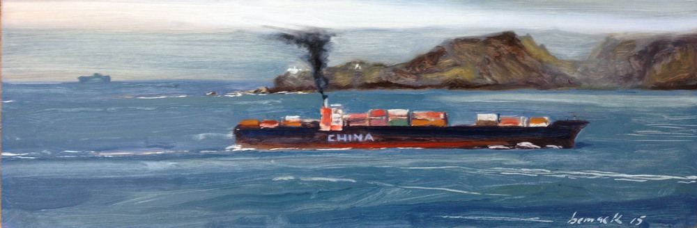 """china    oil on board    6""""x18"""""""