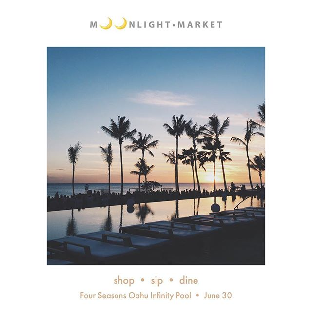 Shop, sip & dine with some chill electro beats tonight by the @fsoahu infinity pool! 30 local vendors, craft brews/spirits by @waikikibrewco and @kohanarum, bites by @minasfishhouse. I'll be spinning 5-8p, come say hey!