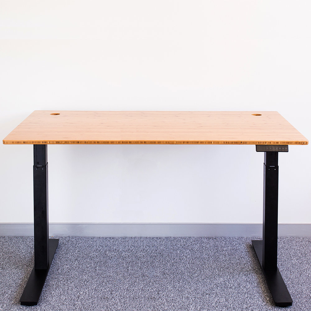 bamboo standing desks with programmable height settings