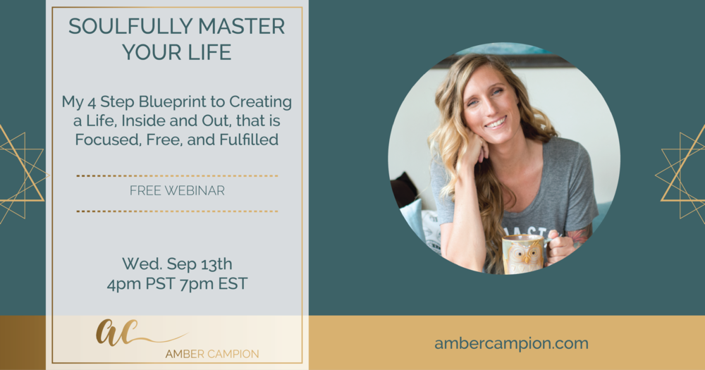 Join me September 13th for a FREE Master Class. Spaces are limited so reserve your seat now.