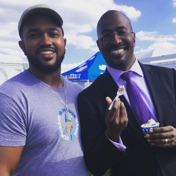 McBroom and Van Jones. Photo courtesy of Antonio McBroom.