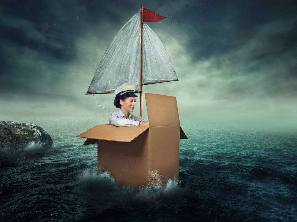 "The title is ""woman traveling by water,"" which is an interesting way of putting it. Via iStock."