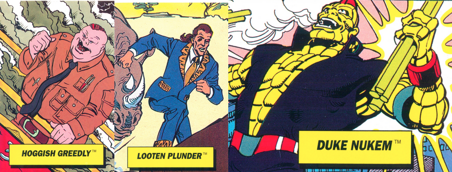 Original Captain Planet trading card images by Mark Anderson via Flickr