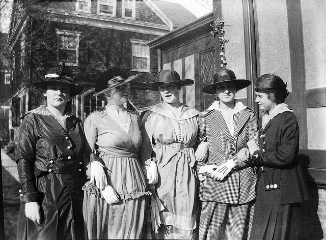 Five women of Lakewood, NJ circa 1914-1918 via Richard @ Flickr