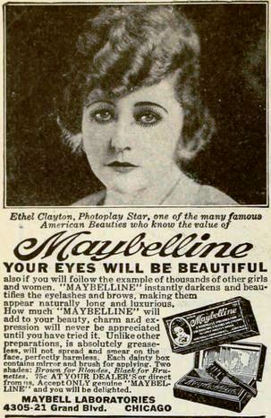 Maybelline launched in 1915 (circa 1922) via Library of Congress