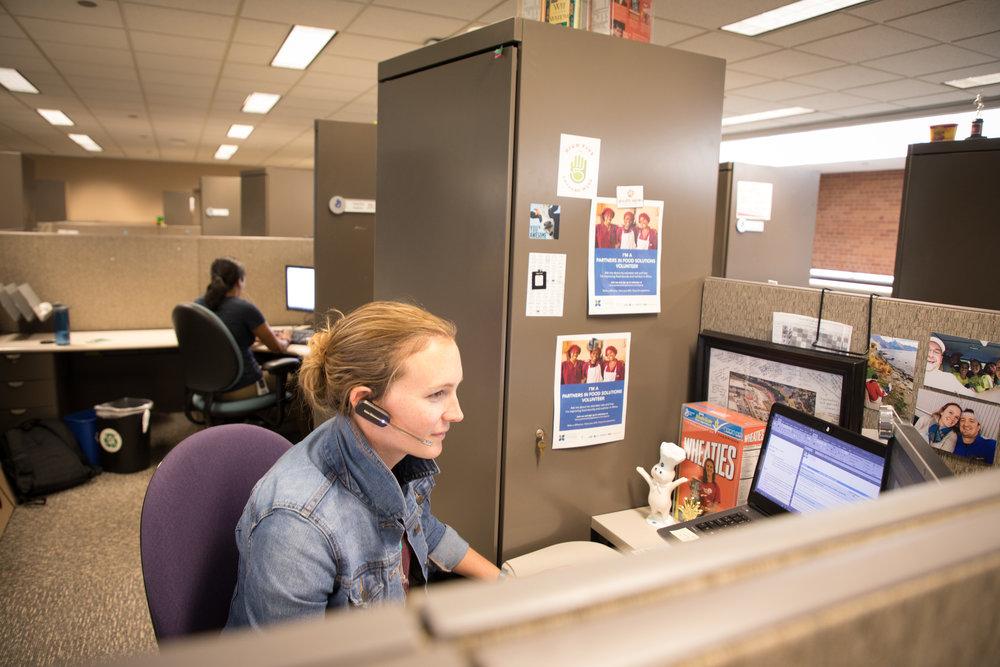 A Partners in Food Solutions volunteer in action. Image courtesy of Partners in Food Solutions.
