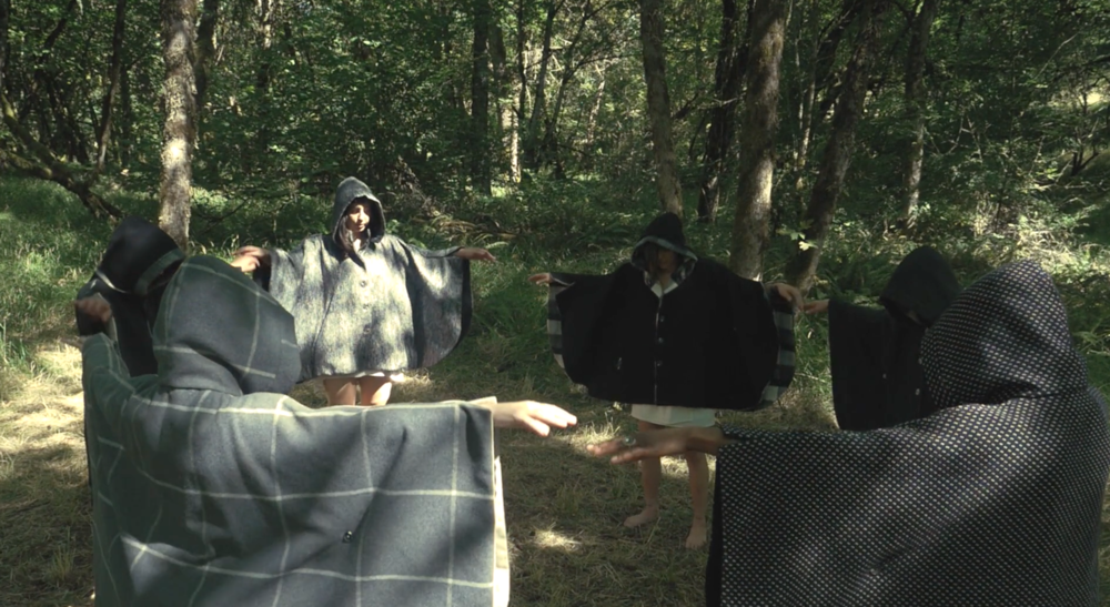 "A still from Forest Veil's ""Harem"" music video."