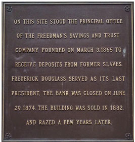 Plaque image via U.S. Department of the Treasury.