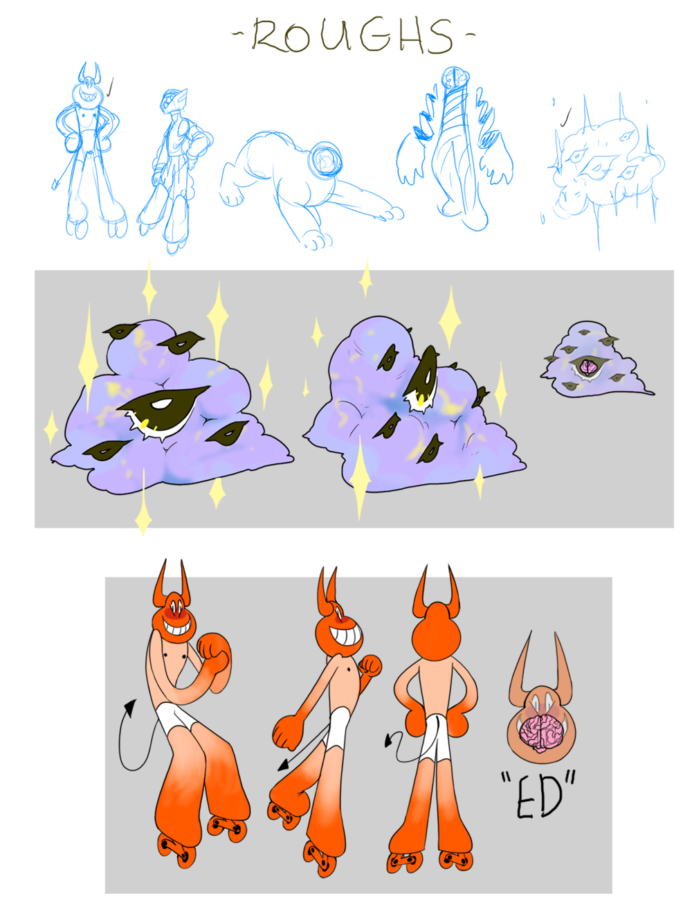 Character Roughs and Sheets