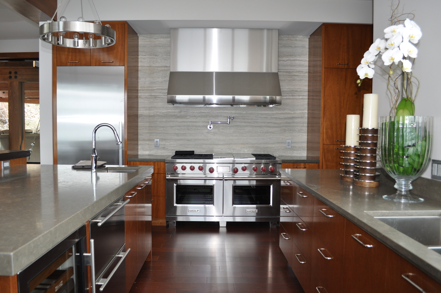 wood kitchen furniture. Modern-mahogany-wood-kitchen-cabinetry.JPG Wood Kitchen Furniture