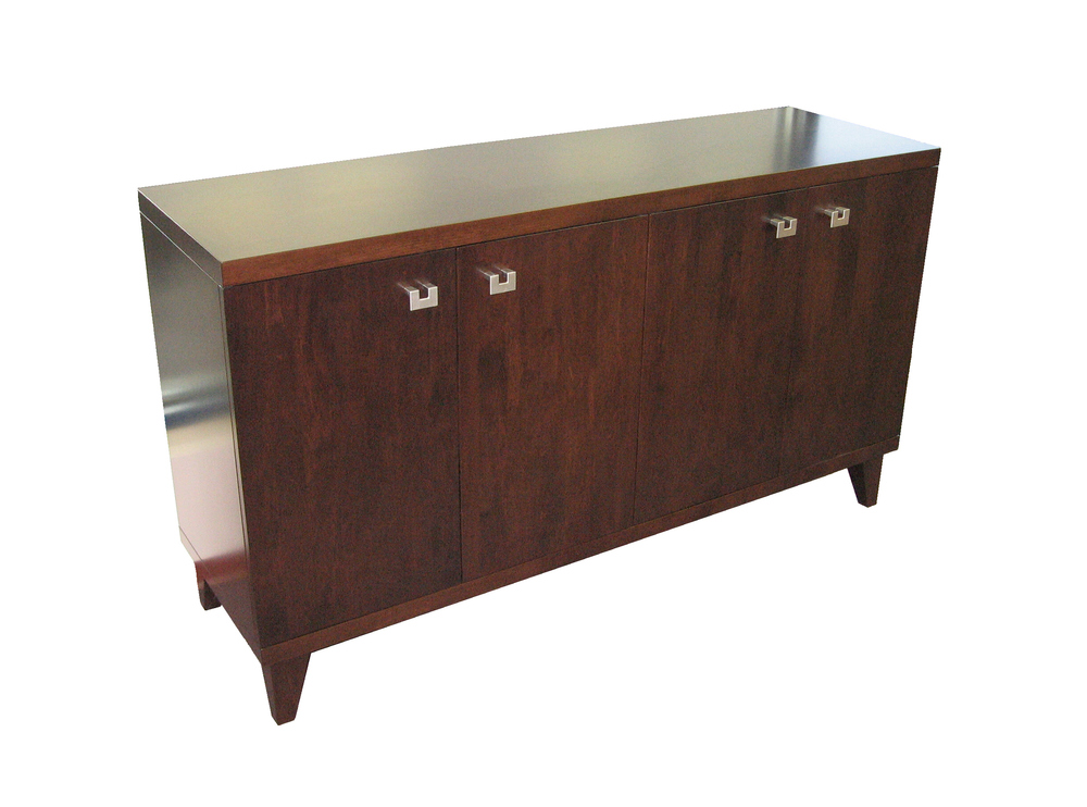 sleek-four-door-tapered-leg-storage-credenza-cabinet.JPG