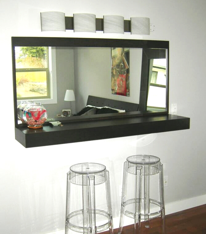 Nice Built In Wall Mirror Bar Counter.JPG