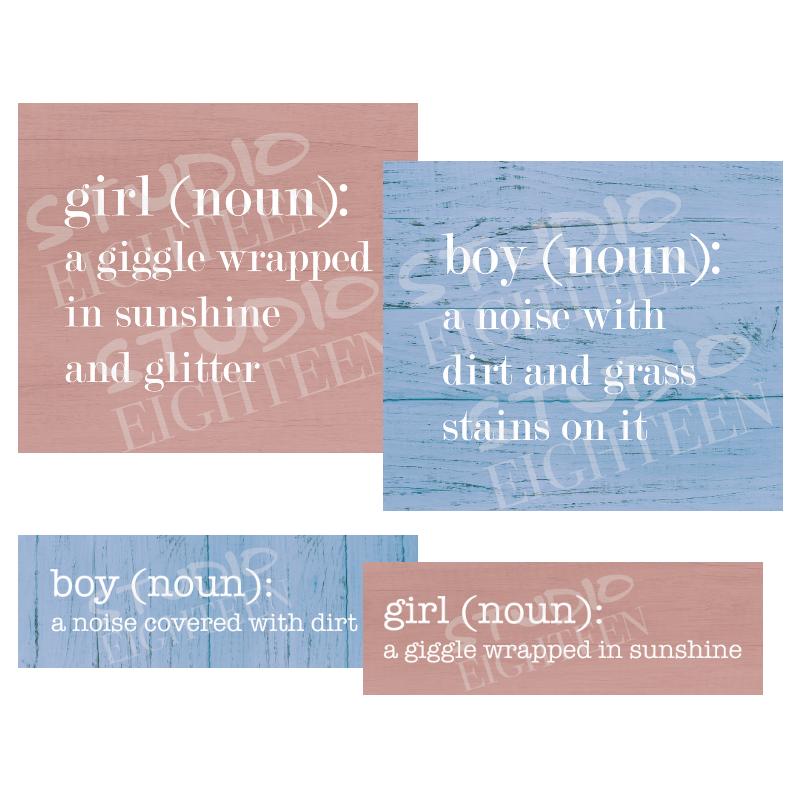 BOY & GIRL NOUN
