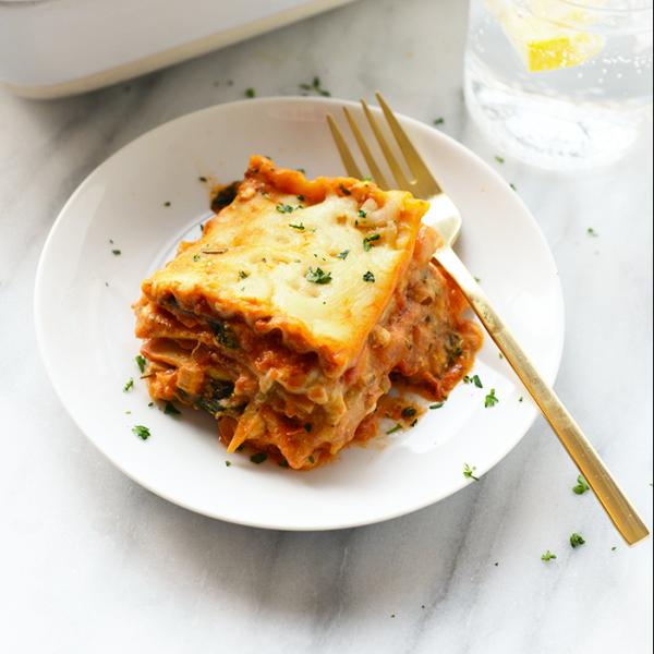 Sweet Potato Spinach Lasagna