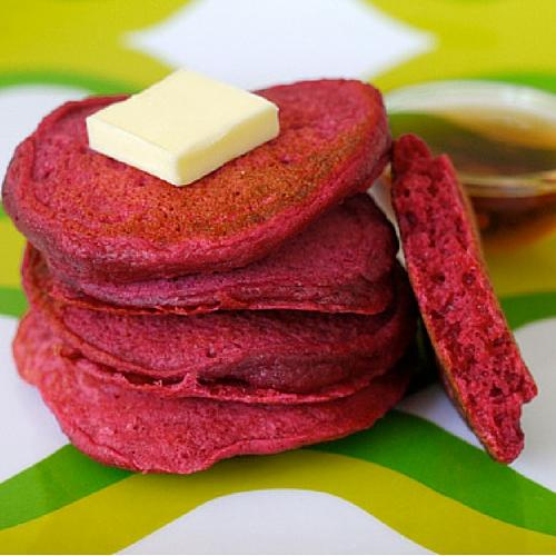 Red Beet Pancakes