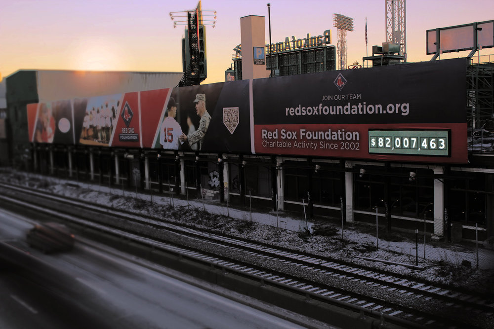 RED SOX FOUNDATION: FACING MASSACHUSETTS TURNPIKE, BOSTON, MA
