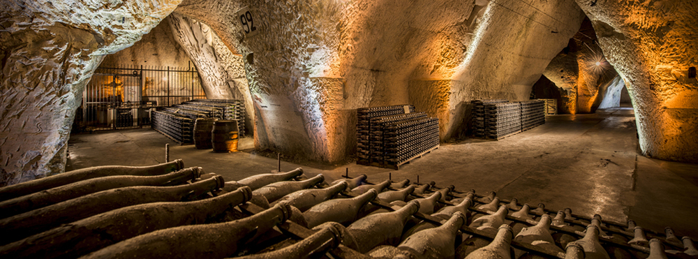 The caves of Veuve Cliquot.