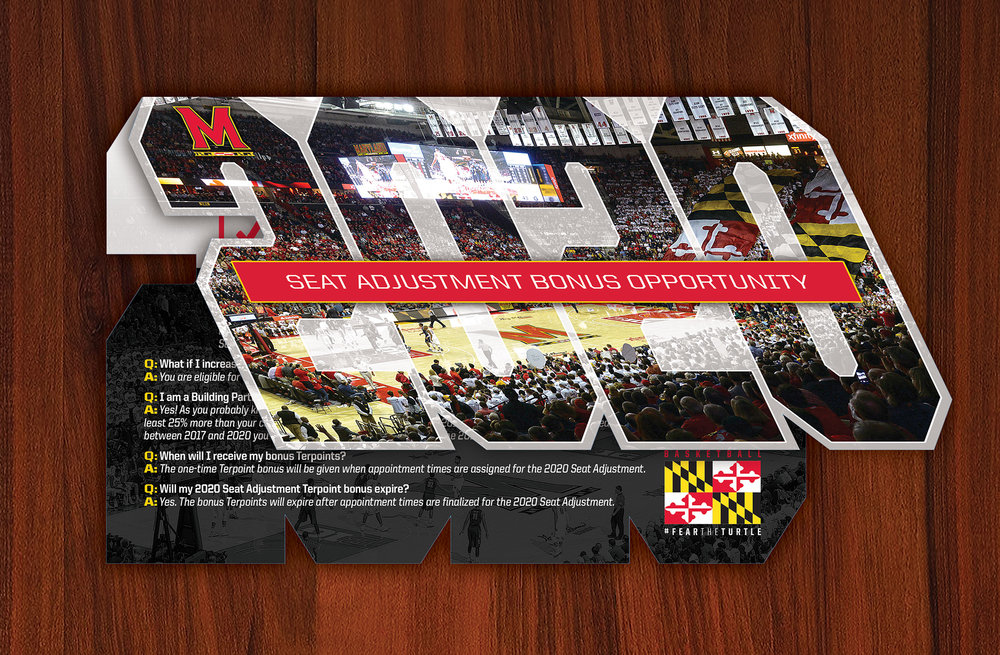 Terrapin Club - University of Maryland Men's Basketball 2020 Seat Adjustment Mailer