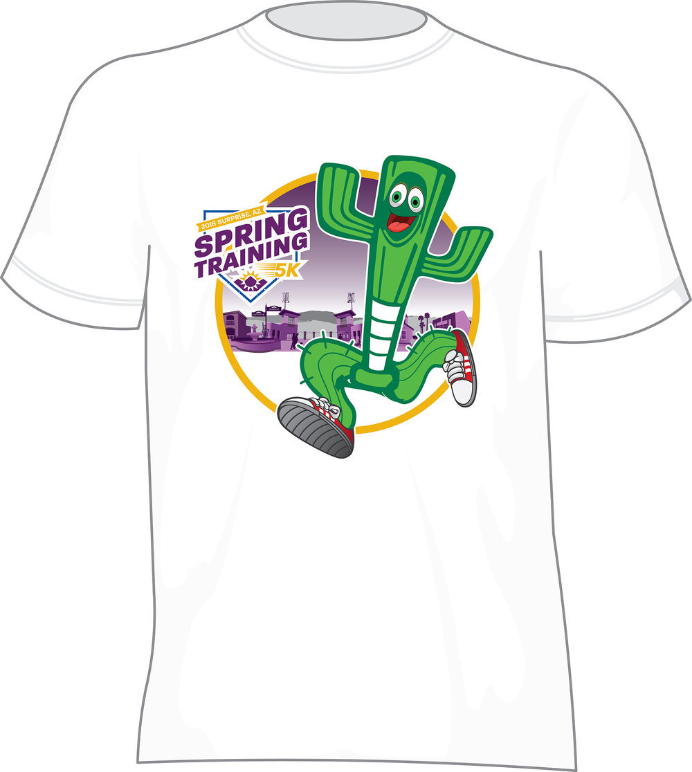 T-shirt giveaway for the City of Surprise, Arizona — Spring Training home of the Texas Rangers and Kansas City Royals).