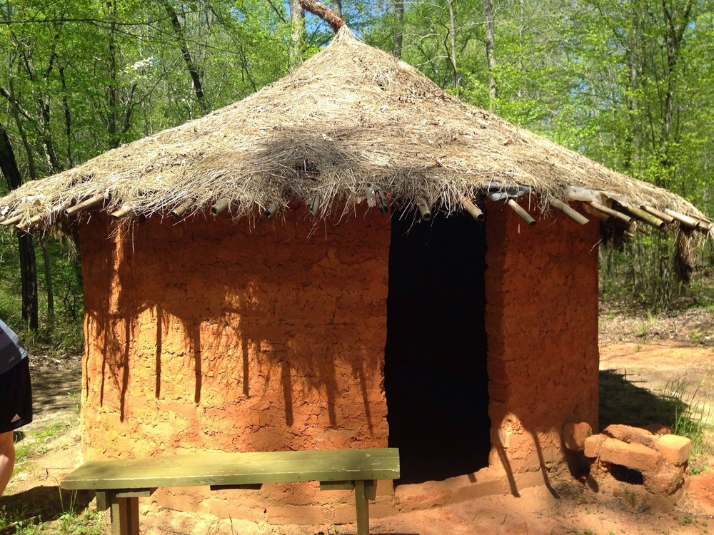 A Nigerian house (made exactly like those found in rural areas in the country) which some of our students lived in.