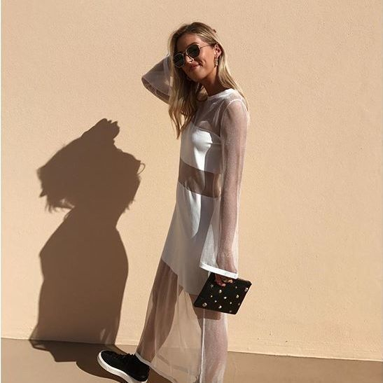 Is it daylight savings yet - dreaming of balmy nights with @ashelizadavis in our Reality Knit Dress - #FindersKeepersTheLabel