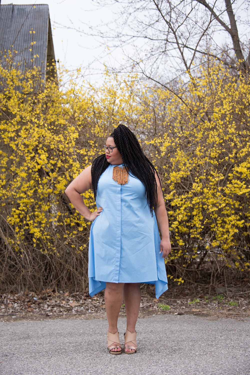 How cute would this dress look opened up into a long vest? I love the versatility of it!