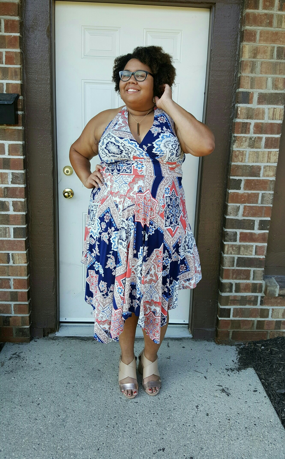 Flowy fly-away hem makes for a flirty look.