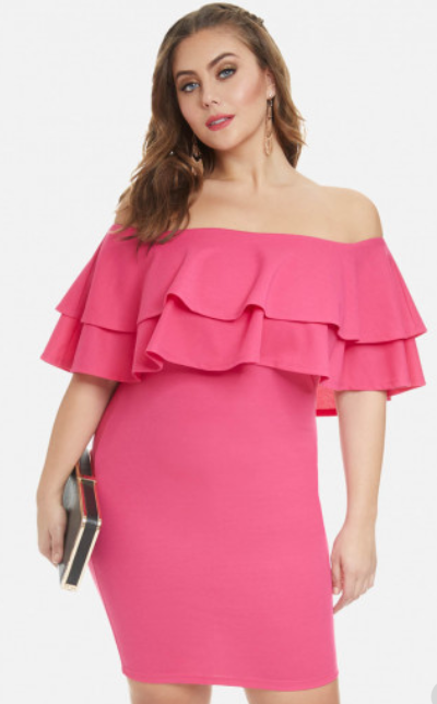 Naya Ruffle Dress, Fashion to Figure, $37