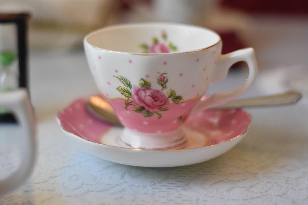 tina's traditional tearoom teacup