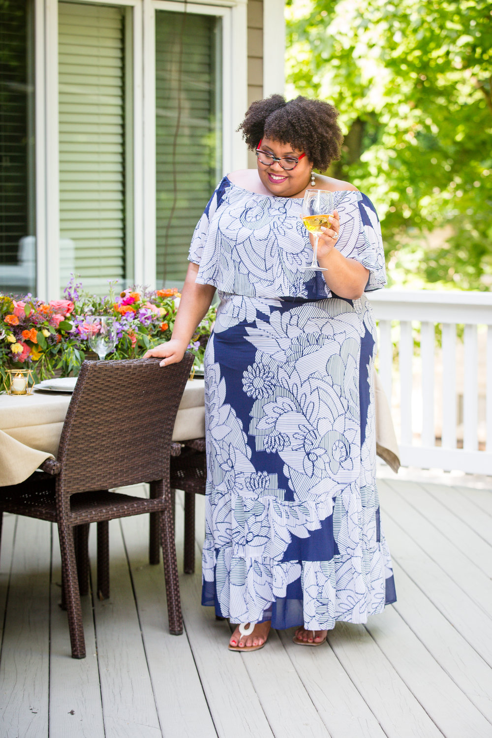 eclectic kurves in dia & co floral maxi dress