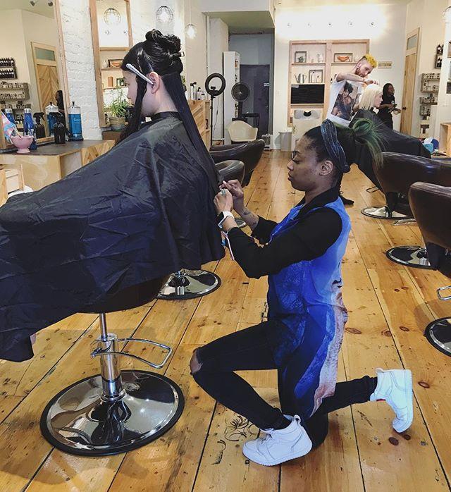 Imani putting in WORK 👏🏼👏🏼