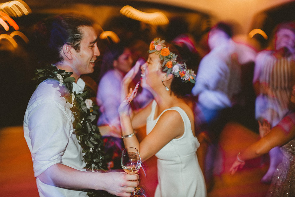 Hyatt & Adrienne celebrate their wedding in Hawaii with their family and friends. Thank you guys for letting us MC and DJ your reception! PC:  Chelsea Abril Photography