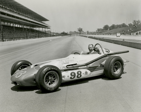 Parnelli Jones in his famed car, Ol' Calhoun, the morning after he won the 1963 Indianapolis 500.