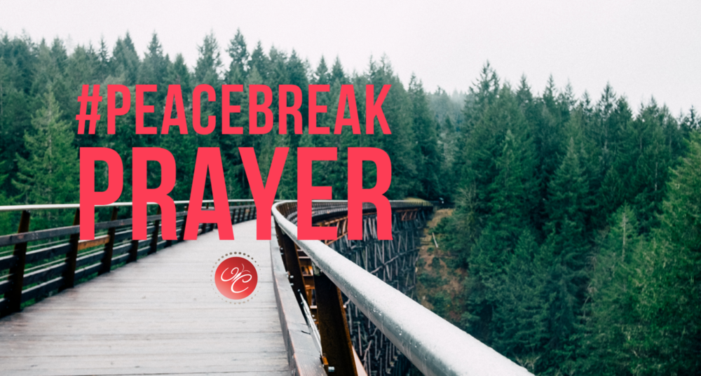 It's time for your #PeaceBreak. Step away from your desk, the ringing phones, overflowing email and voicemail, and walk outside so you can regroup. Use this #PeaceBreak moment as your guide to realign with God's peace.