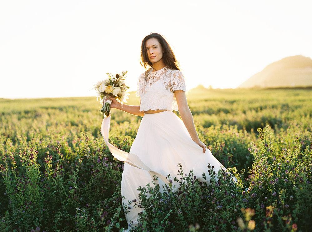 Bridal Portrait, Ebey's Landing