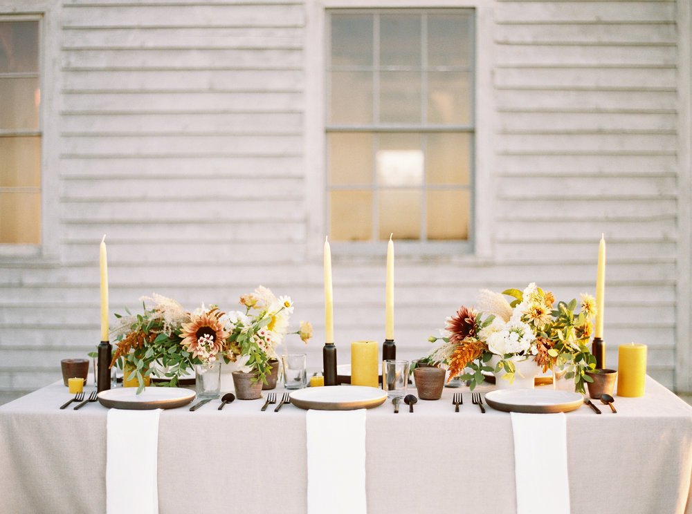Late Summer / Early Fall Wedding Tablescape