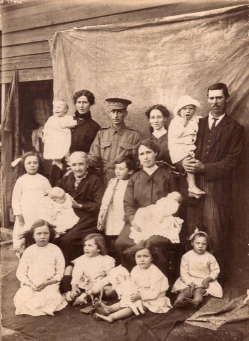 annie (kent) jacka with some of her children and grandchildren, 1915