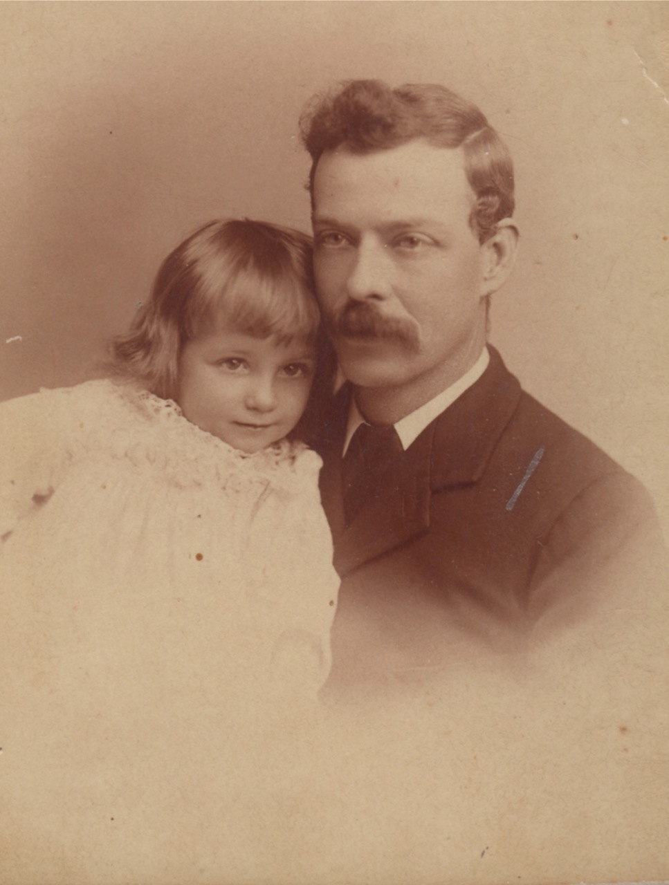 John Frederick Martin with daughter Muriel