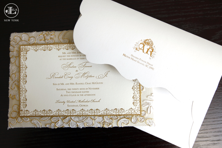 lela new york luxury wedding invitations