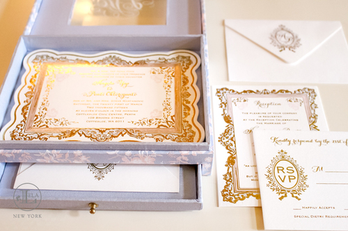 Luxury Box Wedding Invitation.
