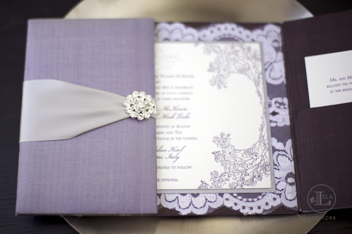 silk lace invitation jessica nathaniel - Luxury Wedding Invitations