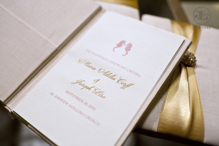 Couture Wedding Program
