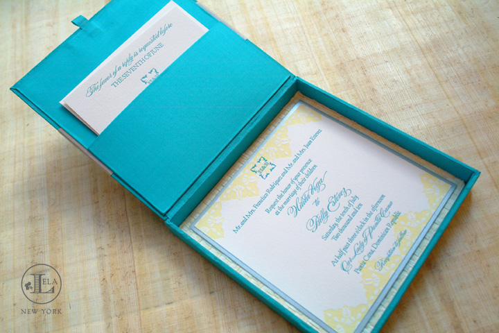 Crystal Starfish wedding invitation Lela New York Luxury Wedding