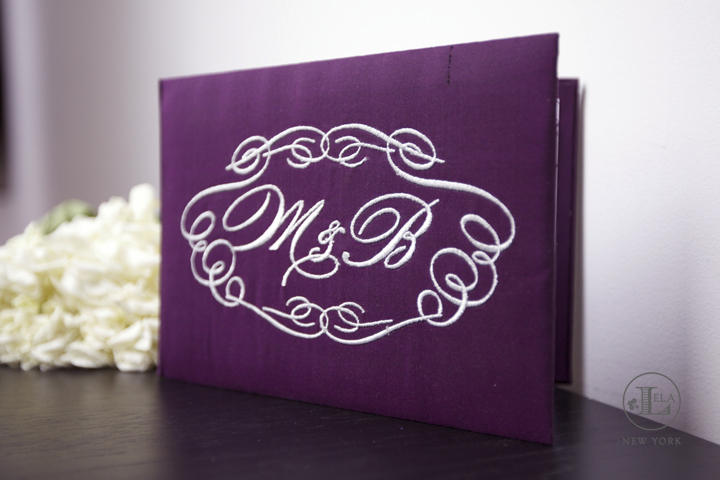 Purple Silk Wedding Invitations | Monica & Brandon