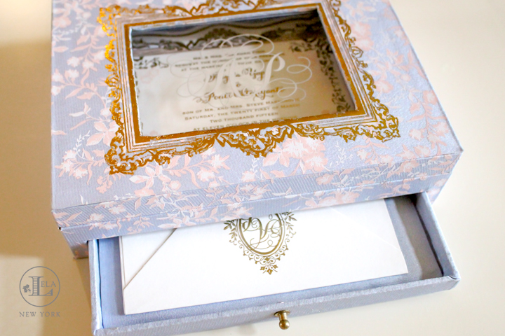 Designs lela new york luxury wedding invitations box wedding invitation angela ponti stopboris Images