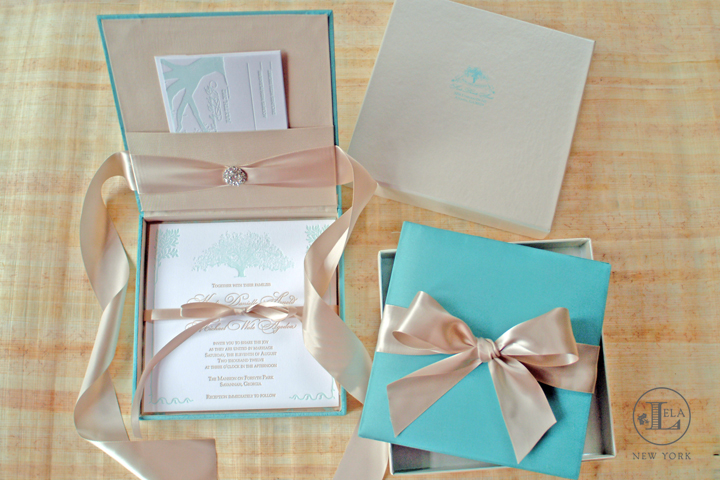 Tiffany Blue Box Invitations | Kali & Michael