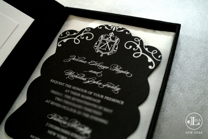 Boxed Invitations Lela New York Luxury Wedding Invitations