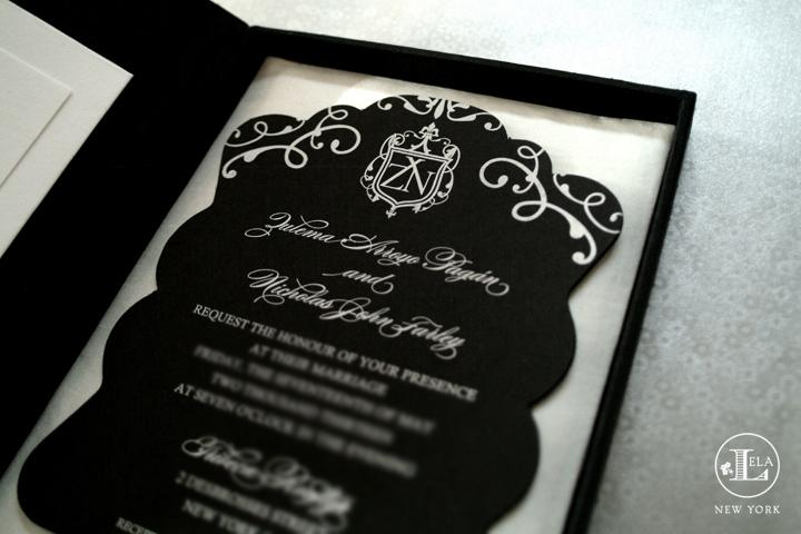 Black U0026 White Box Invitation | Zulema U0026 Nick
