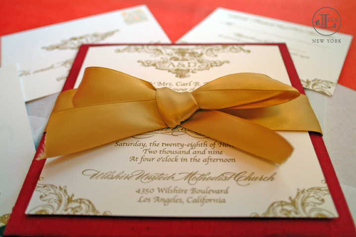 Red Luxury Invitation | Anette & Daniel