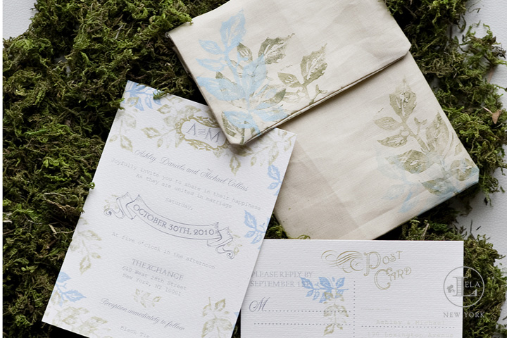 Linen Wedding Invitation | Ashley & Michael
